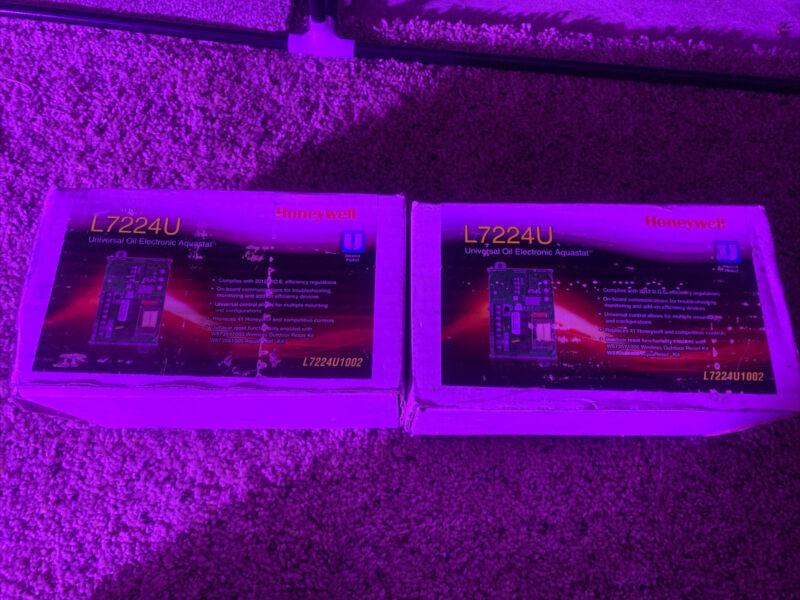 New In Box Honeywell L7224U1002 120 Volt Universal Oil Electronic Aquastat L7224