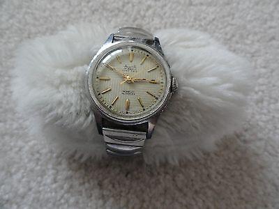 Old--Swiss Made Alsta 17 Jewels Very Thin Incabloc Alstaflex Wind Up Men's Watch