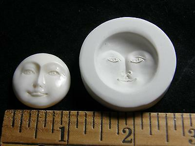 Moon Face Open Eyes Polymer Clay Mold (#MD1046)