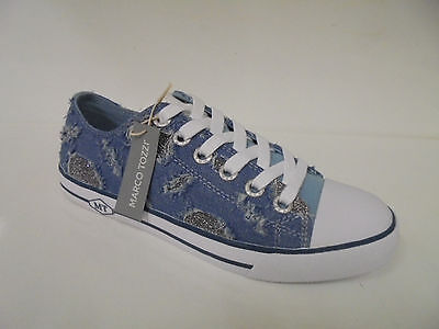 23604 Marco Tozzi Damenschuhe Sneaker Textil jeans comb. Gr. 36