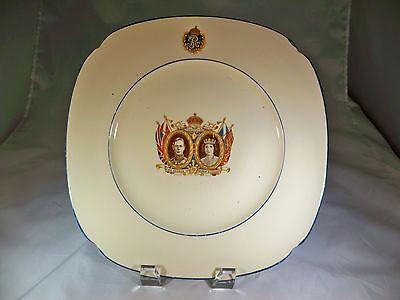 ROYAL DOULTON KING GEORGE VI QUEEN ELIZABETH 1937 CORONATION SOUVENIR PLATE