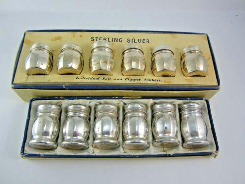 6 SETS OF STERLING SILVER SALT & PEPPER SHAKERS