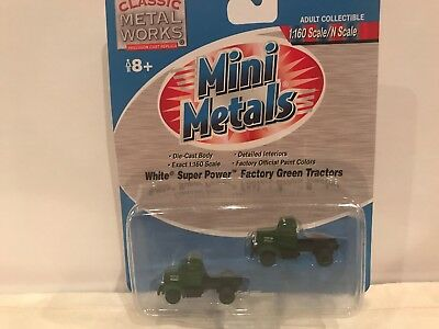 # 51138 1/160 MINI METALS N SCALE WHITE SUPER POWER FACTORY GREEN TRACTORS. for sale  Brandon