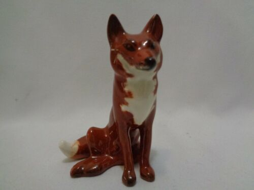 Genuine Beswick England Seated Red Fox Porcelain