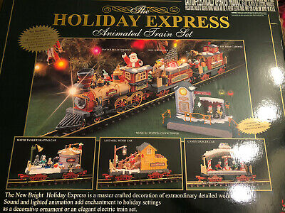 New Bright 387 Holiday Express Electric Animated CHRISTMAS 6 Car Train