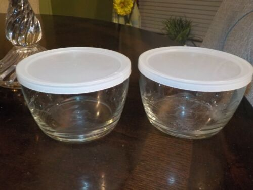 PRINCESS HOUSE CRYSTAL HERITAGE 2 STORAGE CONTAINERS (PLASTIC LIDS)