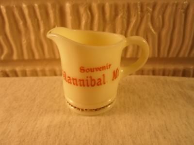 Hannibal Mo Missouri,  custard glass creamer