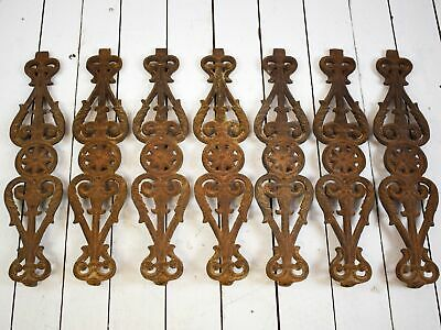 Set of 7 Antique Vintage Cast Iron Balustrades Railing Fence Architectural REF-0