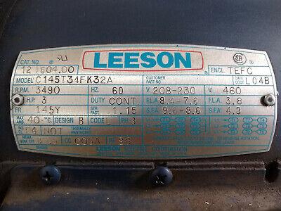 Leeson Industrial 3hp Electric Motor