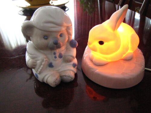 Bunny Rabbit Baby Nursery Lightning Kids Bedroom Night Lamp