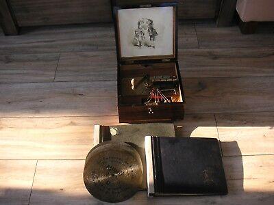 """Kalliope mit Blechplatten 23,5cm Spieluhr 6 Bells Music Box with discs 9 1/4"""""""