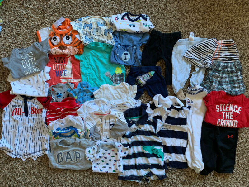 Baby Boy Clothes Huge Lot 0-3 Months