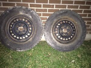 215/70 R15 X2 Tires with rims