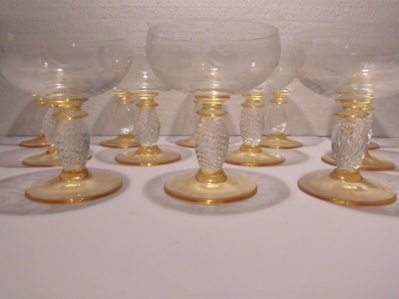 12 Gläser Likörgläser Likörglas Likörschale Theresienthal Pieroth Hummelschliff