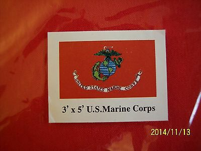 United States MARINE CORPS Flag NEW USMC Military Semper Fi Leatherneck Freedom!