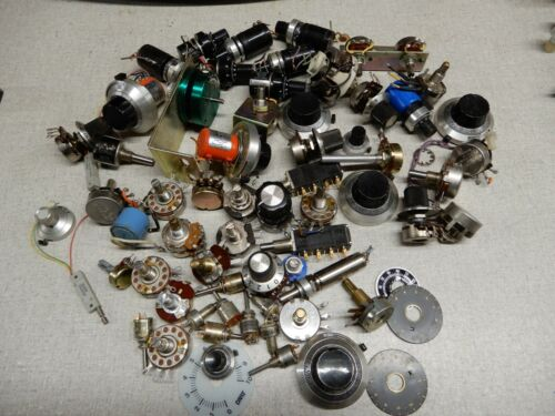 Huge Lot of Potentiometers and Counting Dals Shown Includes 5K Green Pot CPP-45