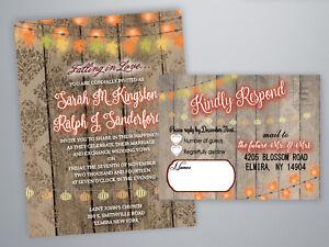 75 Fall Wedding Invitations Autumn Leaves Leaf Invites Rustic Country Bridal