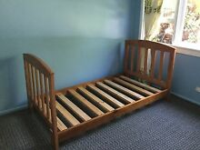 Solid wood King single with comfortable mattress Macquarie Fields Campbelltown Area Preview