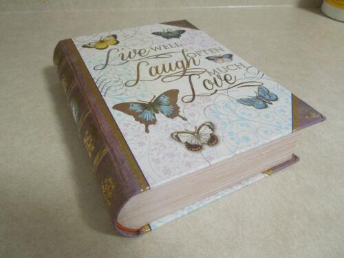 "Book Trinket / Stash Box ""Live Well, Laugh Often, Love Much"" NEW!"