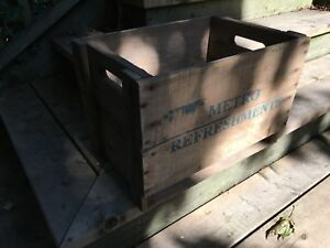 Antique soft drinks crate