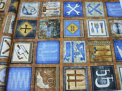 CRAFTSMAN TOOLS & CONSTRUCTION SIGNS PICTURE PATCH BROWN 26086-A 100% Cotton