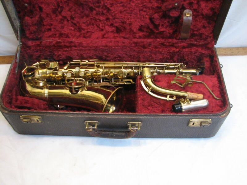 Early 1915 Pat Selmer Low Pitch A Alto Saxophone American Sax 1950s
