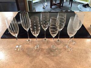 8 Mikasa Champagne Flutes
