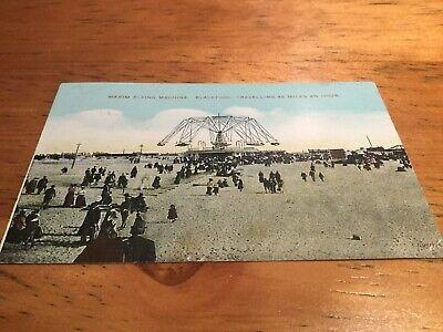 Old Postcard Maxim Flying Machine Blackpool Old Flying Machine