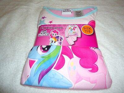 Mlp Pajamas (NEW GIRLS MY LITTLE PONY MOVIE 2-PC FLANNEL SLEEPWEAR SET PAJAMAS SIZE 7 /)