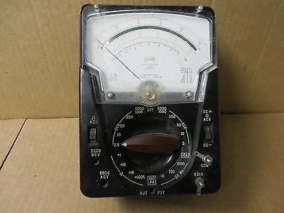 Triplett Model 630apl Type 3 Suspension Meter Vintage Electronic Test Equipment