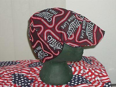 Miller Time Reds American Made Welding Hat Biker Cap 7.50 Each