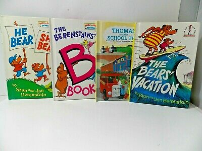4 Bright & Early Beginner Books-I Can Read Berenstain Bears & Thomas The Train