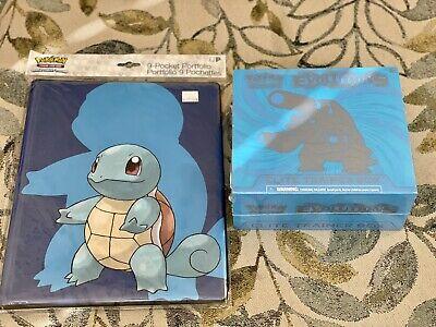 XY Evolutions Elite Trainer Box Blastoise + Squirtle Binder - FACTORY SEALED