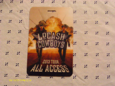 LoCash Cowboys 2013 All Access Laminate Pass