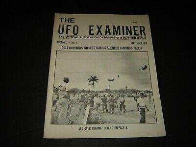 The UFO Examiner Vol 2 No 3 Sept 1978 Publication of Private UFO Investigations
