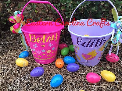 Personalized Easter Basket - Easter Bucket - Easter Pail