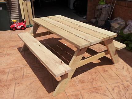 outdoor picnic table treated pine non arsenic 5 sizes other rh gumtree com au outdoor pine furniture treatment pine outdoor furniture melbourne