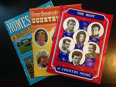 3 Country Music Magazine Books, good condition, vintage.