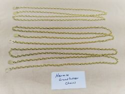 Set of 3 new Hermle Grandfather clock chains with hooks and ends.