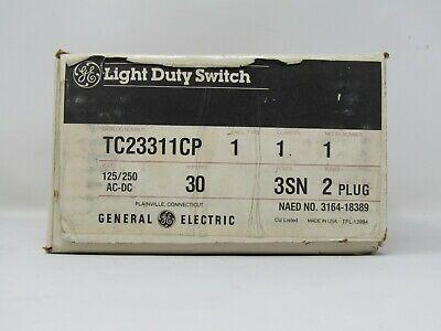 One Ge Transfer Switch Tc23311cp 30 Amp 3sn-pole 2 Plug Nib Free Shipping