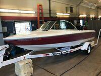 21' Sea Ray Ski Ray Inboard Mercruiser w/ Shoreland'r Trailer  T1302191