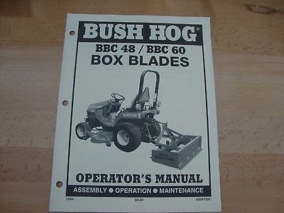 Bush Hog Box Blade Operators Manual Bbc 48 60