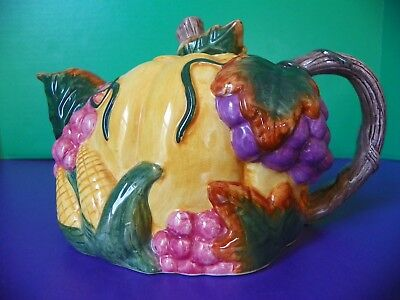 Fall Harvest Porcelain Pumpkin Teapot