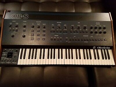 OBERHEIM OB-8 WITH FACTORY MIDI ANALOG SYNTHESIZER EXCELLENT VINTAGE SYNTH !