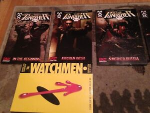 Graphic novels: Punisher Max and Watchmen