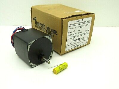 Hurst 2602-013 Model T Synchronous Instrument Motor W Capacitor 115vdc 6rpm 7w