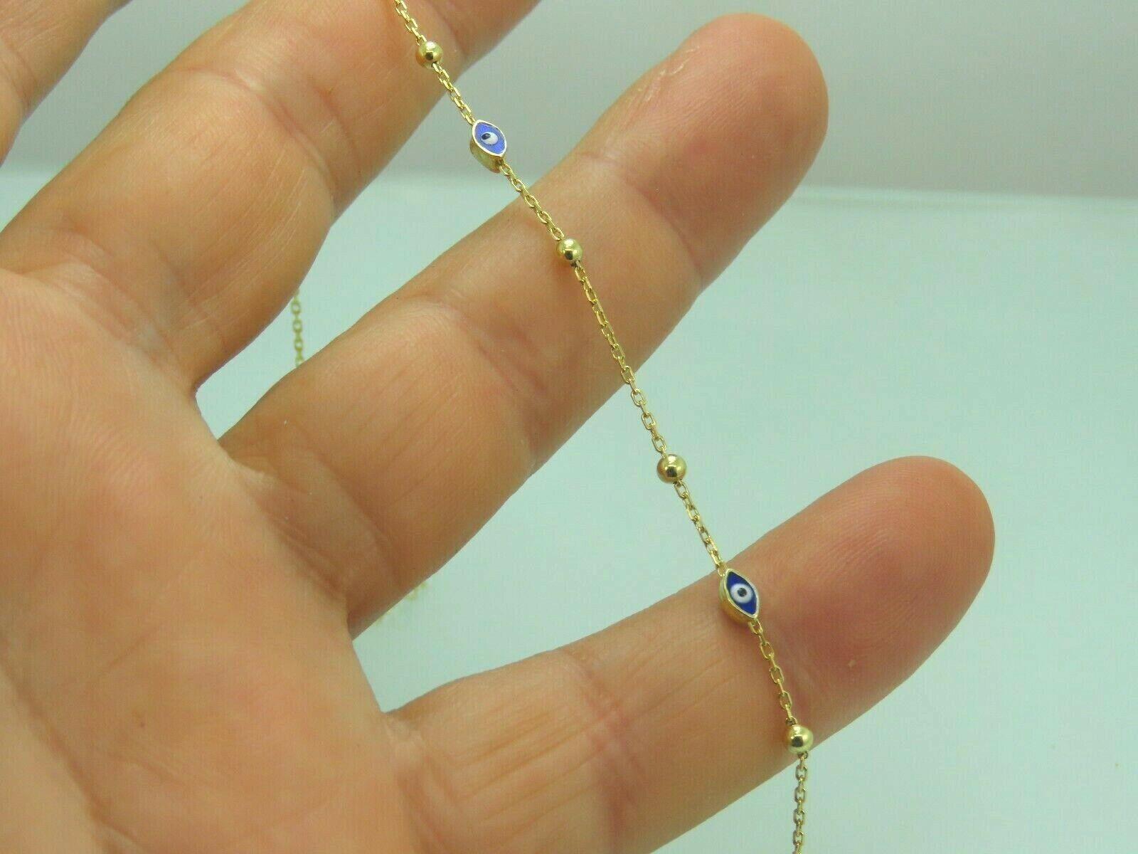 Turkish Handmade Jewelry 925 Sterling Silver Evil Eye Stone Women Bracelet