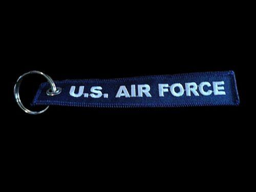 "U.S MILITARY AIR FORCE KEY CHAIN KEY RING FOB 5 1/2"" X 1"" INCHES GOT FREEDOM"