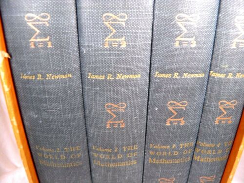 -= The World of Mathematics - 4 volumes - James R. Newman - Hardcovers Box Set=-