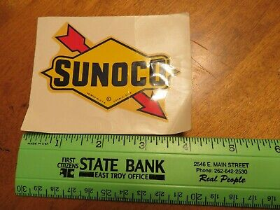 """Vintage Sunoco Gas Station Racing Fuel Oil Decal Sticker 4"""" x 3"""""""